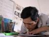 Kỳ diệu người thầy viết chữ bằng miệng