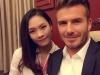 Cận cảnh cô gái 'gây bão' khi chụp ảnh với David Beckham