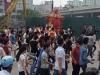 Rước 'kiệu bay' gây tắc nghẽn đường phố Hà Nội