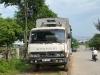 Trung úy CSGT bị xe tải đâm trọng thương