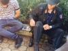 Cảnh sát Cơ động bị đâm gẫy chân khi đang làm nhiệm vụ
