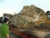 Đào được đá khủng 30 tấn, phạt 1,1 tỷ đồng: Chủ vườn và người lái máy xúc phản đối