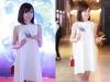 Hot girl M.U Tú Linh đẹp rạng ngời đi họp báo phim Bộ ba rắc rối