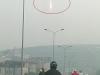 Ánh mặt trời phản chiếu 'hình đĩa bay' trên thành tòa nhà Keangnam