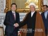 Chủ tịch nước Trương Tấn Sang hội kiến Chủ tịch Quốc hội Iran