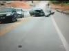 Clip: Mô tô 'lọt khe' thoát nạn hy hữu khi hai ô tô đấu đầu nát vụn
