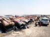 Hàng chục xe chở dầu IS bị thiêu rụi hoàn toàn