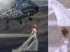 Thót tim cảnh trực thăng lượn sát đầu cô dâu