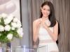 Trương Mỹ Nhân diện đầm trắng tinh khôi yêu kiều dự sự kiện