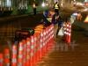 Trắng đêm lắp giải phân cách ưu tiên cho xe buýt nhanh BRT