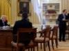 Báo Đức so sánh ảnh Trump lúc nói chuyện với Putin và Merkel
