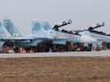 Phi đội tiêm kích Su-30SM sắp hạ cánh xuống sân bay Nội Bài