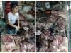 Chen chân mua thịt lợn của người phụ nữ bị hất luyn và chất thải