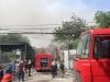 Đang cháy lớn kho hàng tại Cảng Hà Nội