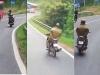 Người 'làm xiếc' trên đèo Prenn Đà Lạt không có giấy phép lái xe máy
