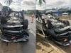 Mất lái, Phó GĐ Sở TN&MT đâm xe lật ngửa khiến vợ tử vong