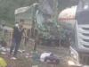 Hòa Bình: Xe bồn đụng phải xe tải, 2 người bị thương