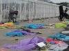 Rác ngập cổng sân vận động Mỹ Đình sau một ngày cổ động viên 'cắm chốt' chờ mua vé AFF Cup 2018