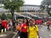 Á hậu Lệ Hằng xông vào ngồi giữa CĐV Malaysia và cái kết bất ngờ