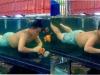 Trốn trông con, chồng nhảy vào bể cá chơi khiến cô vợ 'cạn lời'