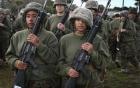 Cảnh khổ luyện chiến đấu của nữ binh sĩ Mỹ