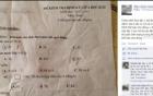 Bài kiểm tra Toán của học sinh lớp 1 làm xôn xao
