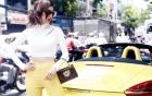 Siêu mẫu Ngọc Quyên xuất hiện đẹp rạng ngời bên chiếc xe mui trần 3 tỷ