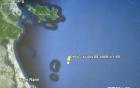 Vị trí tàu Phúc Xuân 68 chở 8 thuyền viên bị mất tích trên biển
