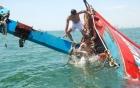 Video tàu cá chìm trên biển Ninh Thuận