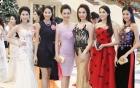 Thí sinh Hoa hậu Việt Nam lộng lẫy trong đêm