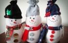 Hướng dẫn làm người tuyết handmade