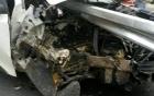 Hyundai Tuscon gặp nạn trên cao tốc Hà Nội - Lào Cai
