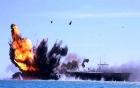Video tàu chiến Iran đánh chìm tàu sân bay Mỹ