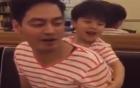 Thúy Hạnh quay con trai MC Phan Anh mát xa cho bố cực