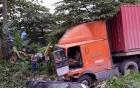 Vụ container húc xe biển xanh: 4 cán bộ Sở TT&TT thoát nạn