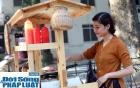 Cận cảnh nhan sắc cô gái Hà Nội bán bánh giò xinh đẹp như hotgirl