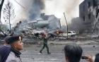 Máy bay Indonesia rơi trúng khách sạn, ít nhất 30 người thiệt mạng