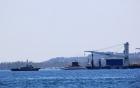 Tàu ngầm Kilo 185 Khánh Hòa vào quân cảng Cam Ranh