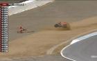 Video: Tay đua Moto thoát chết dù liên tục cắm đầu xuống đất