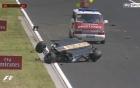 Tay đua F1 may mắn thoát nạn ở chặng đua thử Hungarian GP