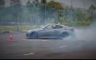 Hyundai Genesis Coupe độ widebody đốt lốp khét lẹt tại Hà Nội