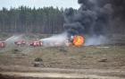 Trực thăng quân sự Nga rơi khi đang trình diễn