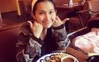 Kim Hiền hạnh phúc trên
