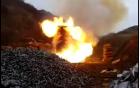 Xem cảnh tiêu hủy hàng nghìn viên đạn trong lò lửa