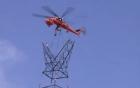 Dùng trực thăng xây dựng đường điện cao thế