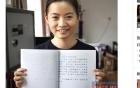 Chân dung nữ sinh Việt viết chữ đẹp gây