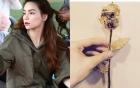 Hồ Ngọc Hà khoe hoa hồng vàng giá 200 triệu