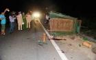 Hiện trường vụ xe tải tông công nông, 14 người thương vong
