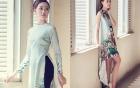 Á hậu Kim Duyên dịu dàng áo dài xuống phố