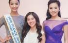 Hoa hậu Kỳ Duyên mờ nhạt khi đứng cạnh hoa hậu Pháp